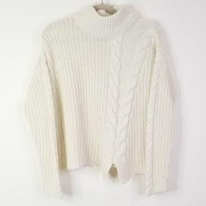 Cream chunky turtleneck sweater